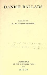 Danish ballads by Eleanor Mary Smith-Dampier