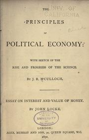 The principles of political economy by J. R. McCulloch