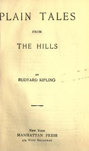 Cover of: Plain tales from the hills by Rudyard Kipling