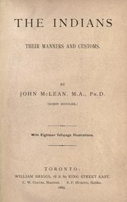 The Indians by MacLean, John