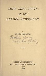 Some side-lights on the Oxford movement by Caroline Louisa Currie