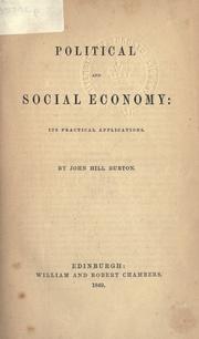 Political and social economy PDF