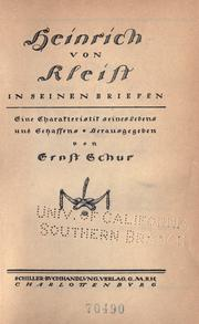 Heinrich von Kleist in seinen Briefen by Bernd Heinrich