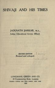 Shivaji and his times by Sarkar, Jadunath Sir
