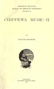 Chippewa music by Frances Densmore