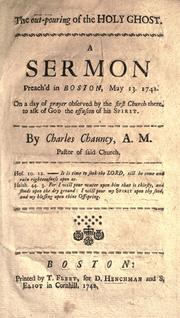 The out-pouring of the Holy Ghost by Chauncy, Charles