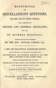 Historical and miscellaneous questions by Mangnall, Richmal