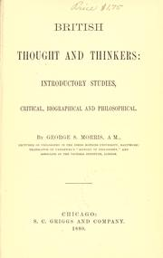 British thought and thinkers PDF