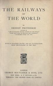 The railways of the world PDF