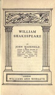 William Shakespeare by John Masefield