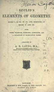 Cover of: Euclid&#39;s Elements of geometry by Euclid