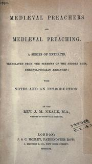 Medi℗æval preachers and medi℗æval preaching by J. M. Neale