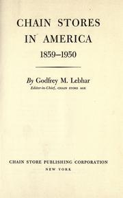 Chain stores in America, 1859-1950 PDF