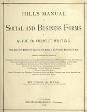 Manual of social and business forms by Hill, Thomas E.