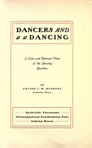 Cover of: Dancers and dancing by J. M. Hubbert