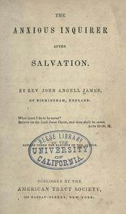 The anxious inquirer after salvation PDF