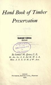 Hand book of timber preservation PDF