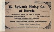 The Sylvania Mining Co. of Nevada PDF