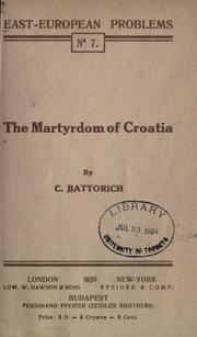 The martyrdom of Croatia by C. Battorich