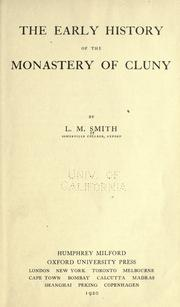 The early history of the monastery of Cluny by Lucy Margaret Smith