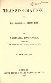 Transformation by Nathaniel Hawthorne