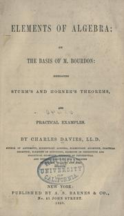 Elements of algebra by Charles Davies