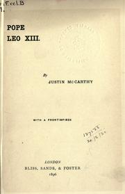 Pope Leo XIII by McCarthy, Justin