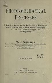 Photo-mechanical processes by W. T. Wilkinson