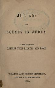 Julian, or, Scenes in Judea by Ware, William
