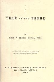 A year at the shore by Philip Henry Gosse