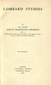 Lombard studies by Martinengo-Cesaresco, Evelyn Lilian Hazeldine Carrington contessa
