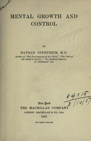 Mental growth and control by Oppenheim, Nathan
