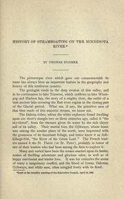 Cover of: History of steamboating on the Minnesota River by Hughes, Thomas