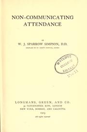 Non-communicating attendance PDF