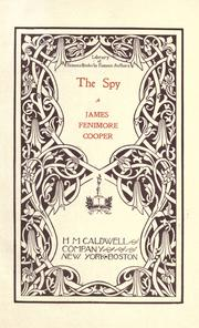 Cover of: The spy by James Fenimore Cooper