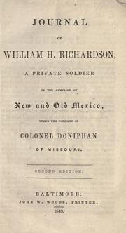 Journal of William H. Richardson by William H. Richardson