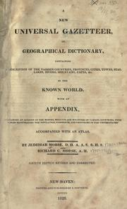 Cover of: A new universal gazetteer by Jedidiah Morse