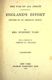 England's effort by Mrs. Humphry Ward