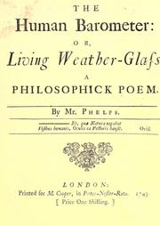 The human barometer: Or, Living weather-glass PDF
