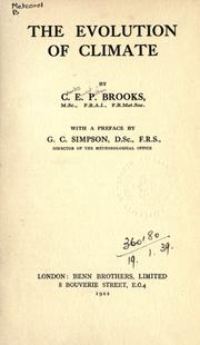 The evolution of climate by C. E. P. Brooks