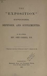 The exposition expounded, defended and supplemented PDF