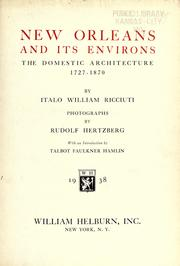 New Orleans and its environs by Italo William Ricciuti