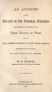 An account of the escape of six federal soldiers from prison at Danville, Va PDF