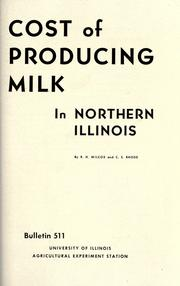 Cost of producing milk in northern Illinois
