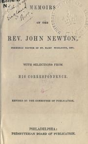 Cover of: Memoirs of the Rev. John Newton by