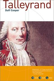 Talleyrand by Cooper, Duff Viscount Norwich