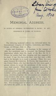Memorial address in honor of General Rutherford B. Hayes PDF