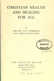 Christian health and healing for all PDF