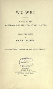 Wu Wei by Henri Borel