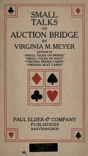Small talks on auction bridge PDF